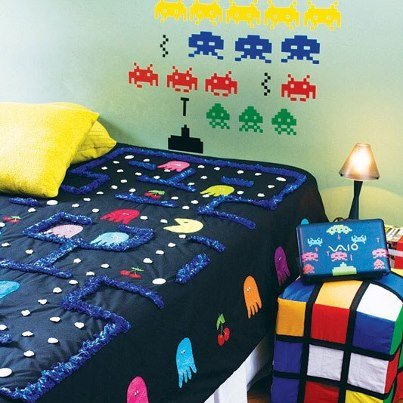 retro game themed bedroom welcome to the intellivision revolution
